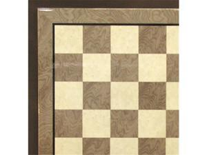 Ferrer 50440GY 17.3 in. Glossy Wooden Chess Board - Grey and Ivory