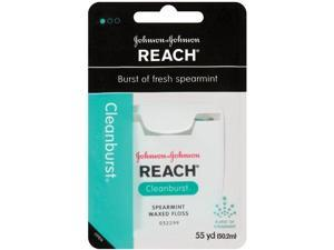 Reach JJ-009470-12 Clean Burst Dental Floss, Spearmint Waxed, 12 per Case
