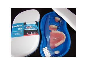 Archtek 405-W Denture Maintenance Kit with Brush in White - Pack of 24