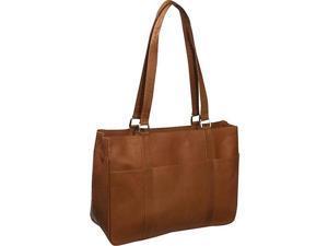 Piel Leather 8747 Medium Shopping Bag - Saddle