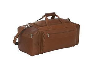 Piel Leather 7708 Large Duffel Bag - Saddle