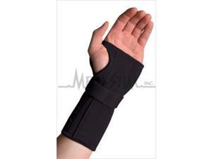 Thermoskin CWB87168 Conductive Carpal Tunnel Wrist Brace With Stay - Black, Left - 2XL 10.25 in. - 11.25 in. Around Wrist Joint