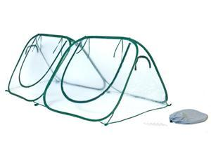 Flowerhouse FHSH200CL 3 in. X 8 in. X 4 in. Easy Pop Up Starter House Clear Greenhouse