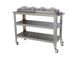 Broil King WBC-4SP Grand Size Buffet Carts with Clear Lids