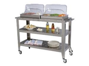 Broil King WBC-5RT Grand Size Buffet Carts with Roll-Top Lids