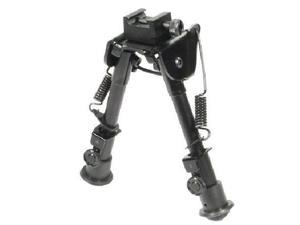 UTG TL-BP78 Tactical Op Bipod, Rubber Feet, Center Height 6.1 - 7.9 In., Black