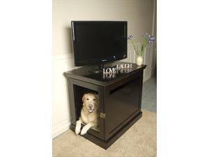 DenHaus TH03-ESP Large TownHaus Wood Dog Crate in Espresso