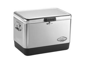 Coleman 765987 54 Qrt Steel Belted Cooler Stainless Steel
