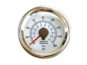 VIAIR 90083 Viair 2 inch - Dual Needle Gauge - White Face - Illuminated -160 PSI
