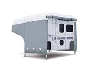 Classic Accessories 80-036-143101-00 Deluxe Camper Cover Model 1 - Gray and White