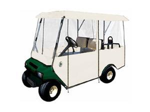 Greenline GLEW04 4 Passenger Drivable Golf Cart Enclosure and Stone White 106 in. L x 47.5 in. W x 62 in. H