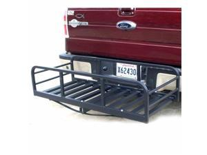 Great Day HNR2000TLB Hitch-N-Ride Magnum XL - Truck Hitch Receiver Cargo Carrier - 12 in. sides - 2 in. - Black - 41 in. bar
