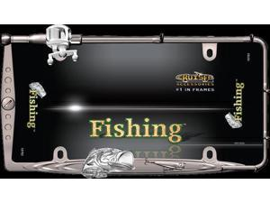 Cruiser Accessories 19783 Fishing, Black Chrome/Chrome