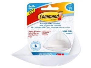 3m BATH14-ES Command Soap Dish With Water-Resistant Strips