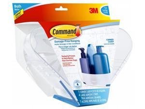 3m BATH12-ES Command Corner Caddy With Water-Resistant Strips
