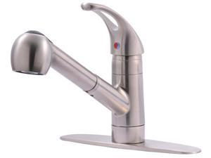 Ultra Faucets UF12003 SS Single Handle Kitchen Faucet With Pull Out Spray