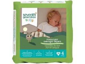Seventh Generation B67713 Seventh Generation Baby Overnight Diapers Stage 4  -4x24ct