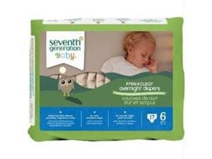 Seventh Generation B67715 Seventh Generation Baby Overnight Diapers Stage 6  -4x17ct
