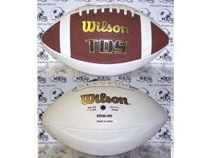 Creative Sports Enterprises WILSON-F1173-SIG Wilson TDS 3 White Panel Autograph Model Football - F1173