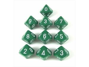 10-sided Dice: Opaque Green