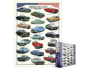 EuroGraphics 8000-3870 American Cars of the 1950's 1000-Piece Puzzle (Small Box)
