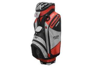Izzo Golf A74046 Champion Cart Bag, Red, Gray & Black