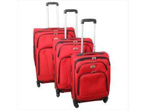 Transworld 736300-RED Expandable 360 Degree Spinner Upright Luggage Set, Red - 3 Piece