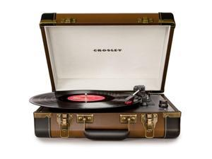 Crosley Radio Executive Portable USB Turntable, Brown - CR6019A-BR