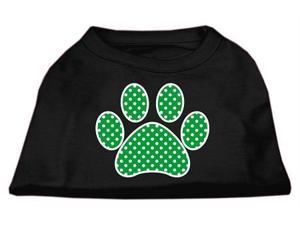 Mirage Pet Products 51-104 XXXLBK Green Swiss Dot Paw Screen Print Shirt Black XXXL - 20