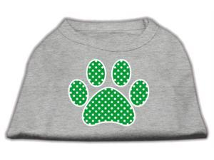 Mirage Pet Products 51-104 XXXLGY Green Swiss Dot Paw Screen Print Shirt Grey XXXL - 20