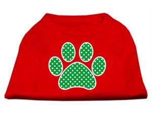 Mirage Pet Products 51-104 XXXLRD Green Swiss Dot Paw Screen Print Shirt Red XXXL - 20