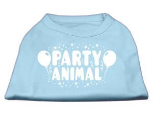 Mirage Pet Products 51-121 LGBBL Party Animal Screen Print Shirt Baby Blue Lg - 14