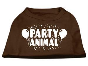 Mirage Pet Products 51-121 LGBR Party Animal Screen Print Shirt Brown Lg - 14