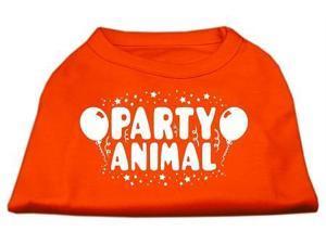 Mirage Pet Products 51-121 LGOR Party Animal Screen Print Shirt Orange Lg - 14
