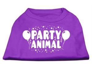 Mirage Pet Products 51-121 LGPR Party Animal Screen Print Shirt Purple Lg - 14