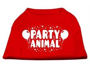 Mirage Pet Products 51-121 LGRD Party Animal Screen Print Shirt Red Lg - 14