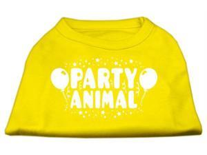 Mirage Pet Products 51-121 LGYW Party Animal Screen Print Shirt Yellow Lg - 14