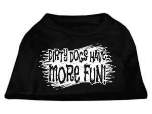 Mirage Pet Products 51-125 LGBK Dirty Dogs Screen Print Shirt Black Lg - 14