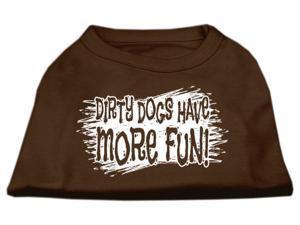Mirage Pet Products 51-125 LGBR Dirty Dogs Screen Print Shirt Brown Lg - 14