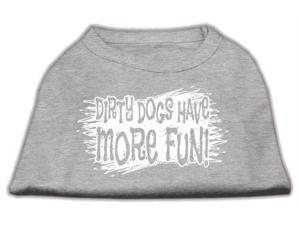Mirage Pet Products 51-125 LGGY Dirty Dogs Screen Print Shirt Grey Lg - 14