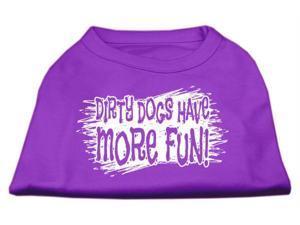 Mirage Pet Products 51-125 LGPR Dirty Dogs Screen Print Shirt Purple Lg - 14