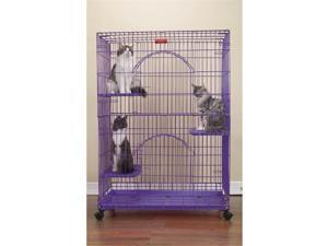 Petedge ZW334 17 ProSelect Foldable Cat Cage 35.5Lx24Wx48 Black S