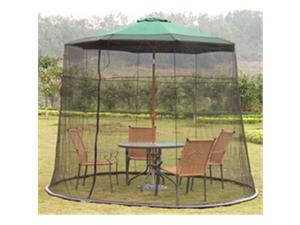 Summer 93215B Black Mosquito Net 108 in. Umbrella Polyester Net