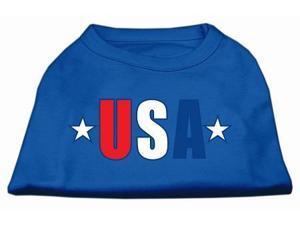Mirage Pet Products 51-134 LGBL USA Star Screen Print Shirt Blue Lg - 14