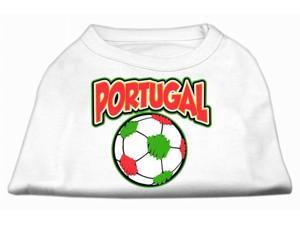Mirage Pet Products 51-148 4XWT Portugal Soccer Screen Print Shirt White 4x - 22