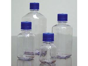 dynalab corp 626284-0125 bottle square nm graduated pc with blue closure 125 ml