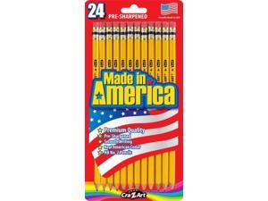 Cra-z-art Corporation 12005 24 Count No.2 Yellow Pre Sharpened Pencils