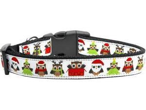 Mirage Pet Products 125-098 MD Santa Owls Ribbon Dog Collars Medium