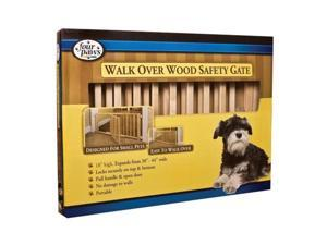 Four Paws - Walk-over Wood Gate with Door 18 Inch - 100203595-57218