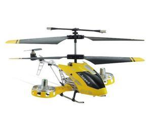 Microgear EC10363-YL Microgear Remote Controlled 4 Channel Metal RC Remote Control Toy Helicopter Toy with Gyroscope - Yellow
